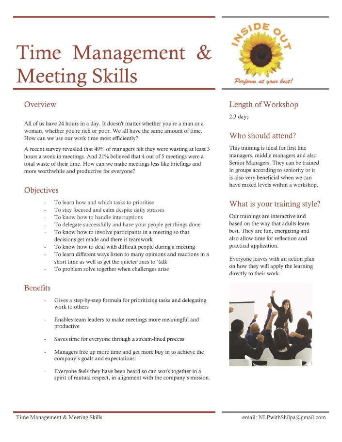Time Mgt & Meeting Skills