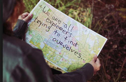 we are all explorers trying to find ourselves